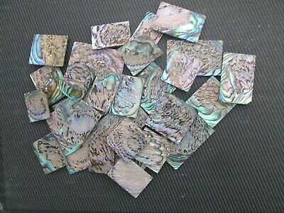 1oz Green Paua Abalone  Heart Of The Shell   Inlay Blanks 0.06  Thickness.pieces • 10.89£