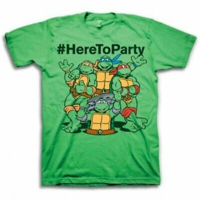 £15.80 • Buy Adult Teenage Mutant Ninja Turtle #HereToParty Here To Party Green T-Shirt Tee