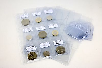 £3.49 • Buy Coindex Clear Plastic Coin Wallets With Labels 9 Pocket Storage Album Pages