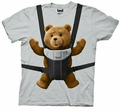 $19.95 • Buy Adult Men's Ted Comedy Movie Ted Bear Baby Bjorn Carrier Ice Grey T-shirt Tee