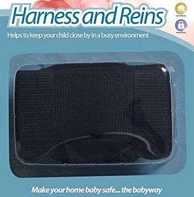 Walking Harness & Reins -- For Baby, Toddler Or Kids -- Age: 6 M+- Colour: Black • 4.99£