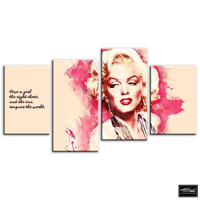 Marilyn Monroe   Iconic Celebrities BOX FRAMED CANVAS ART Picture HDR 280gsm • 49.99£