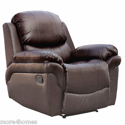 £259.99 • Buy Madison Leather Recliner Armchair Sofa Home Lounge Chair Reclining Gaming