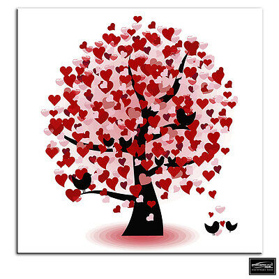 £14.99 • Buy Heart Tree   Love BOX FRAMED CANVAS ART Picture HDR 280gsm