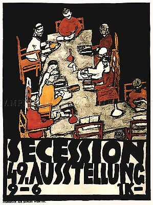 $ CDN23.34 • Buy Exhibition Secession Austria Vienna Klimt Vintage Advertising Poster 1764pylv