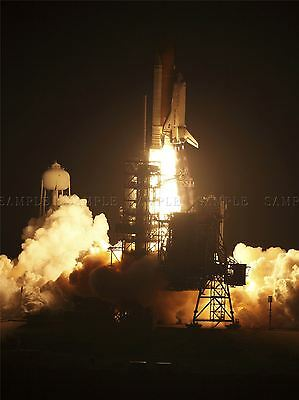 Space Center Space Shuttle Discovery's Fiery Launch Art Print Poster 295pya • 13.50£