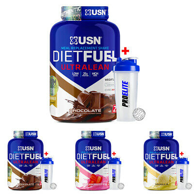 £29.99 • Buy USN Diet Fuel Ultralean 2Kg Meal Replacement Weight Loss Protein Shake + Shaker