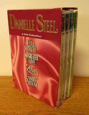DANIELLE STEEL VOL. 1 Boxset DVDs Full Circle Zoya No Greater Love Family Album • 90.45£