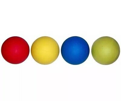 £4.49 • Buy 4x Rubber Dog Balls Toys Floating Tennis Fetch Puppy Training Ball Size 6.1CM UK