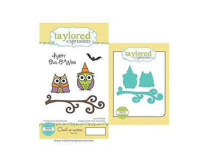 Taylored Expressions Rubber Cling Stamp(5) & Die(3) Set ~ OWL-O-WEEN  ~TEPS98 • 18.89$