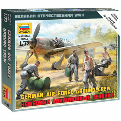 ZVEZDA 6188 German Luftwaffe Ground Crew 1:72 Snap Fit Model Kit • 5.49£