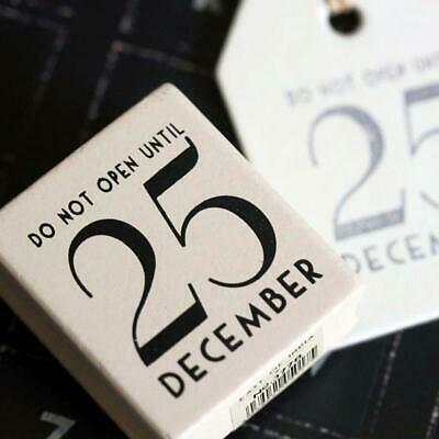 East Of India 'Do Not Open Until 25 December' Rubber Stamp -Christmas • 4.50£