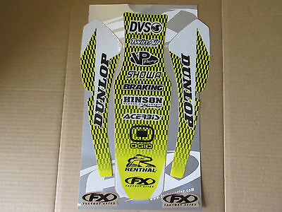 $9.99 • Buy F X  Rear  Fender Graphic Graphics SUZUKI RM125 RM250 1996 1997 1998 1999 2000