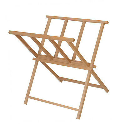 £26.95 • Buy Wooden Print Storage Drying Rack Artist Display Browser & Store Beech Stand BH1