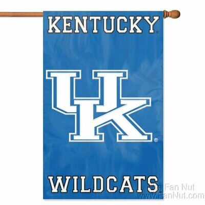 $24.79 • Buy Kentucky Wildcats 2-sided 28x44 Embroidered Applique Banner Flag University Of