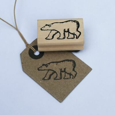 East Of India Polar Bear Rubber Stamp Christmas / Scrapbooking / Craft • 3.95£