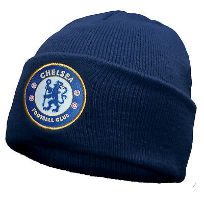 Chelsea FC Official Football Gift Knitted Bronx Beanie Hat • 5.99£