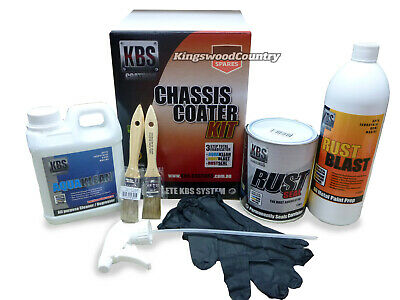 AU129.90 • Buy KBS Chassis Coater Kit SATIN BLACK Rust Corrosion Prevention Degreaser
