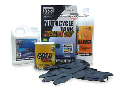 AU93.50 • Buy KBS Motorcycle Fuel Tank Sealer Kit LARGE 45L Prevent Rust Corrosion Motorbike