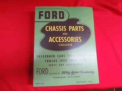 $54.95 • Buy 1928-48 Ford Chassis Parts Manual Catalog  Green Bible  Flathead  BK-1