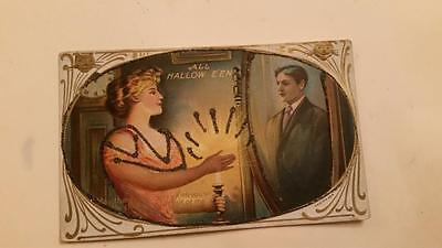 $ CDN36.29 • Buy VINTAGE HALLOWEEN POSTCARD Glitter Series 304 May The Reflection Which You See