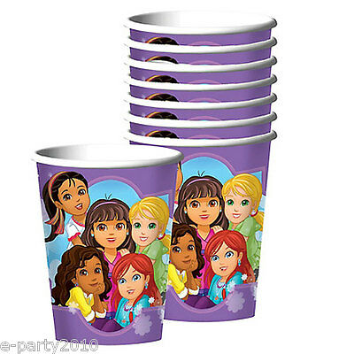 DORA THE EXPLORER AND FRIENDS 9oz PAPER CUPS (8) ~ Birthday Party Supplies Drink • 2.98£