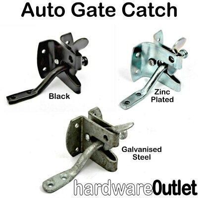 AUTO GATE LATCH Automatic Gate Catch Garden Gate Fittings 3 Finishes Available  • 5.23£