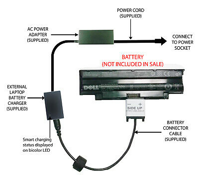 External Laptop Battery Charger For DELL Inspiron 3420 3520, J1KND, 4YRJH, 9JR2H • 52.98£