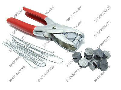 Lead Seal Crimp Tool Electric Electricity Meter 25x Seals Security Wires • 9.99£
