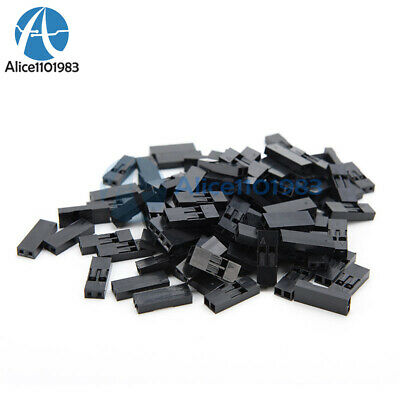 AU1.74 • Buy 200Pcs 2.54mm 2P Pitch Dupont Jumper Wire Cable Housing Female Pin Connector
