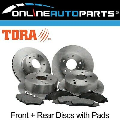 AU139.95 • Buy 4 Front+Rear Disc Rotors Brake Pads Pack Commodore VT VX VY VZ 1997~2007 Holden