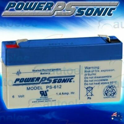AU19.95 • Buy Minature Battery 1.4Ah AMP Hour AGM SLA 6 Volt 6V Sealed Rechargable SLA Ps612