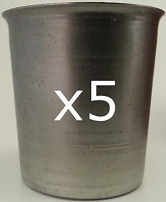 5 Seamless Votive Candle Making Moulds ~ Top Quality Metal ~ Soy Paraffin Wax • 9.97£