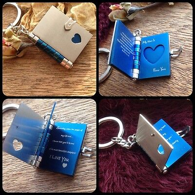 AU36.88 • Buy Gifts For Him Mens Her Valentines Day Love Romantic Heart Locket Book Photo Wife