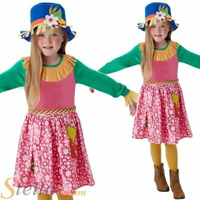 Girls Mrs Scarecrow Book Week Fancy Dress Costume Wizard Of Oz Child Outfit • 9.98£
