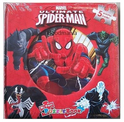 £7.45 • Buy Marvel Ultimate Spiderman Jigsaw Puzzle Book 5 Puzzles Inside