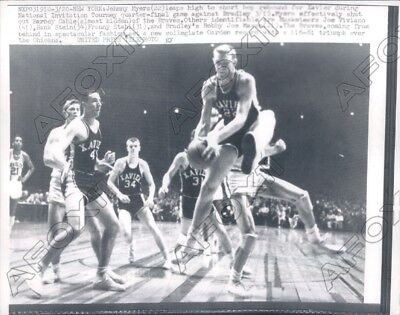 $ CDN13.20 • Buy 1957 Johnny Myers Of Xavier Vs Barney Cable Of Bradley Press Photo