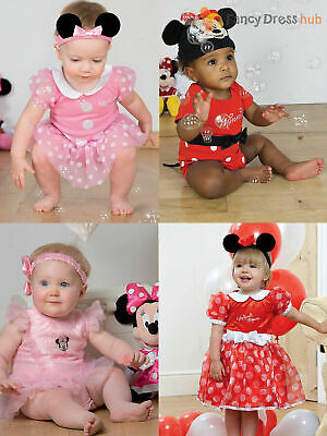 Baby Toddler Deluxe Minnie Mouse Costume Girl Disney Fancy Dress Up Outfit Child • 9.95£