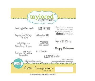 Taylored Expressions Rubber Cling Stamp Set ~ CRITTER CORRESPONDENCE  ~TEMS100 • 16.19$