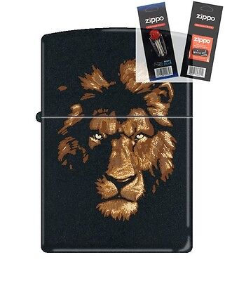 $20.50 • Buy Zippo 218 Lion In The Night Lighter With *FLINT & WICK GIFT SET*
