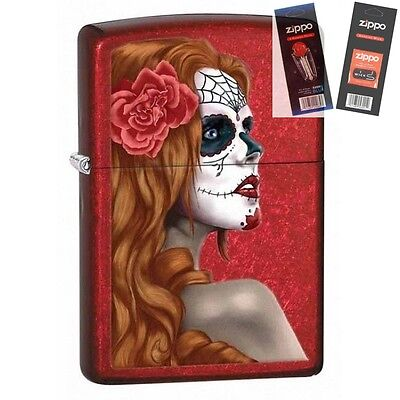 $17.34 • Buy Zippo 28830 Day Of The Dead Zombie Lighter With *FLINT & WICK GIFT SET*