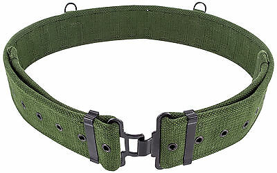 Mens British Army 58 Pattern Belt - Extremely Tough Canvas Webbing Hiking • 9.95£