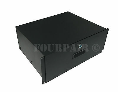 AU79.67 • Buy 4 Space 4U Rack Mount 19  Drawer Locking DJ Rack Gear Audio Road Case IT Network