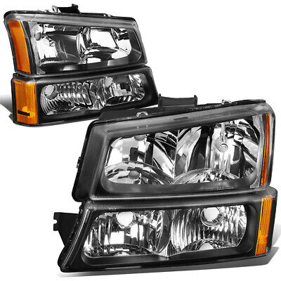 $68.88 • Buy For 2003-2006 Chevy Silverado Black Housing Amber Corner Headlight Bumper Lamps