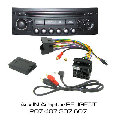 £28.35 • Buy PEUGEOT 207 407 307 607 MP3 IPOD IPHONE AUX IN ADAPTOR CTVPGX011