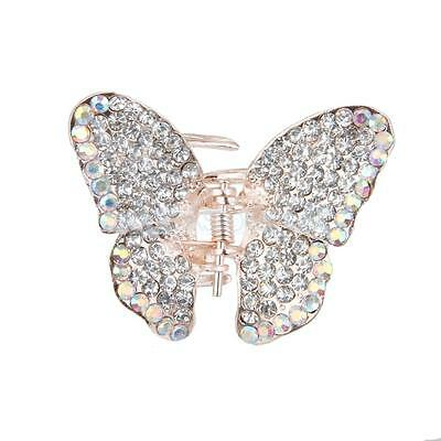 £3.22 • Buy Small Diamante Butterfly Hair Claw Clip Grip Clamp Clear