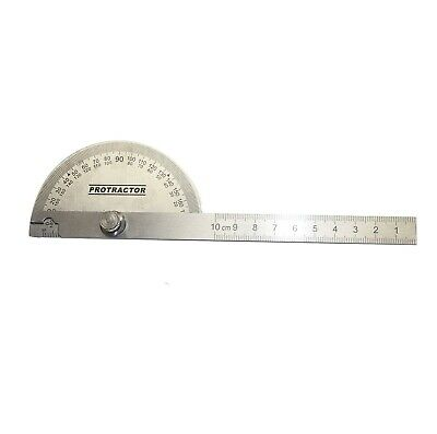 $6.59 • Buy New Stainless Steel Rotary Protractor Angle Rule Gauge Machinist Tool