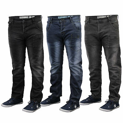 Mens Denim Twisted Leg Tapered Regular Fit Chino Jeans By Crosshatch • 23.98£