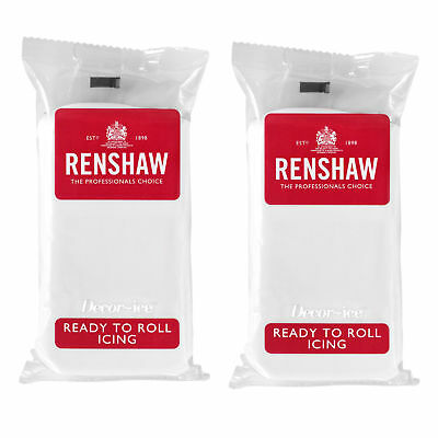 1 Kg Renshaw Ready To Roll Icing Fondant Cake Regalice Sugarpaste WHITE 1000g • 7.99£