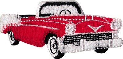 20071 Cadillac Hot Rod Car Old School Cruiser Retro 1950s Roadster Iron On Patch • 4.75$